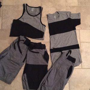 Men's- 5 piece bundle- 3 shorts, 1 tee and 1 tank